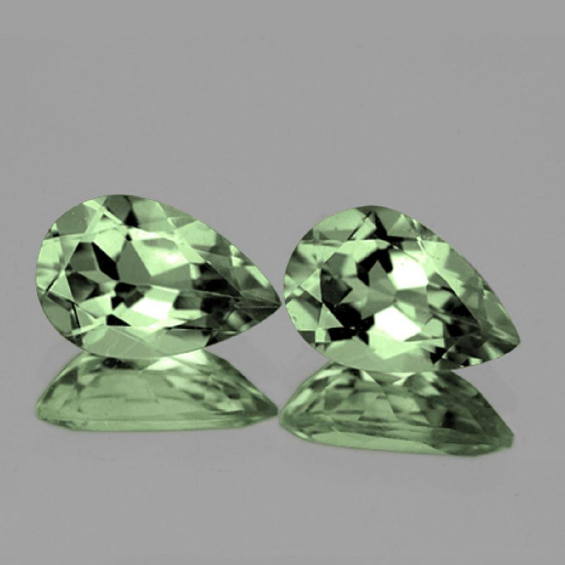 Natural Brilliant Green Amethyst Pair 15x10 MM - FL