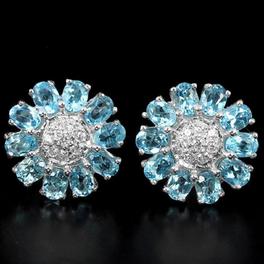Natural Swiss Topaz Earrings