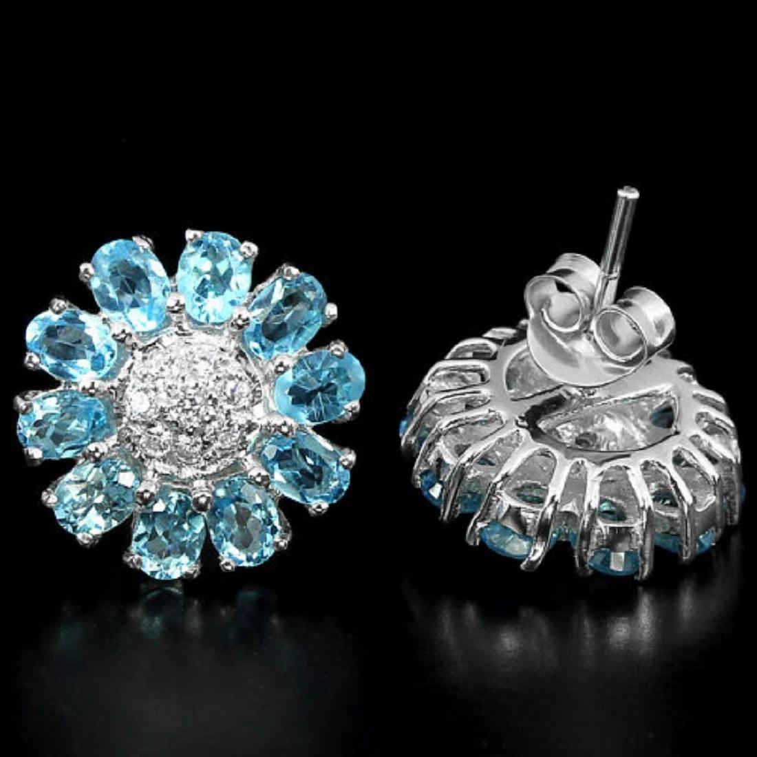 Natural Swiss Topaz Earrings - 2