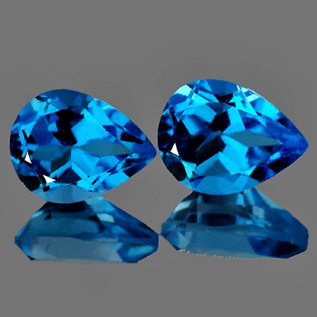 Swiss Blue Topaz Pair 9x7 MM {VVS}