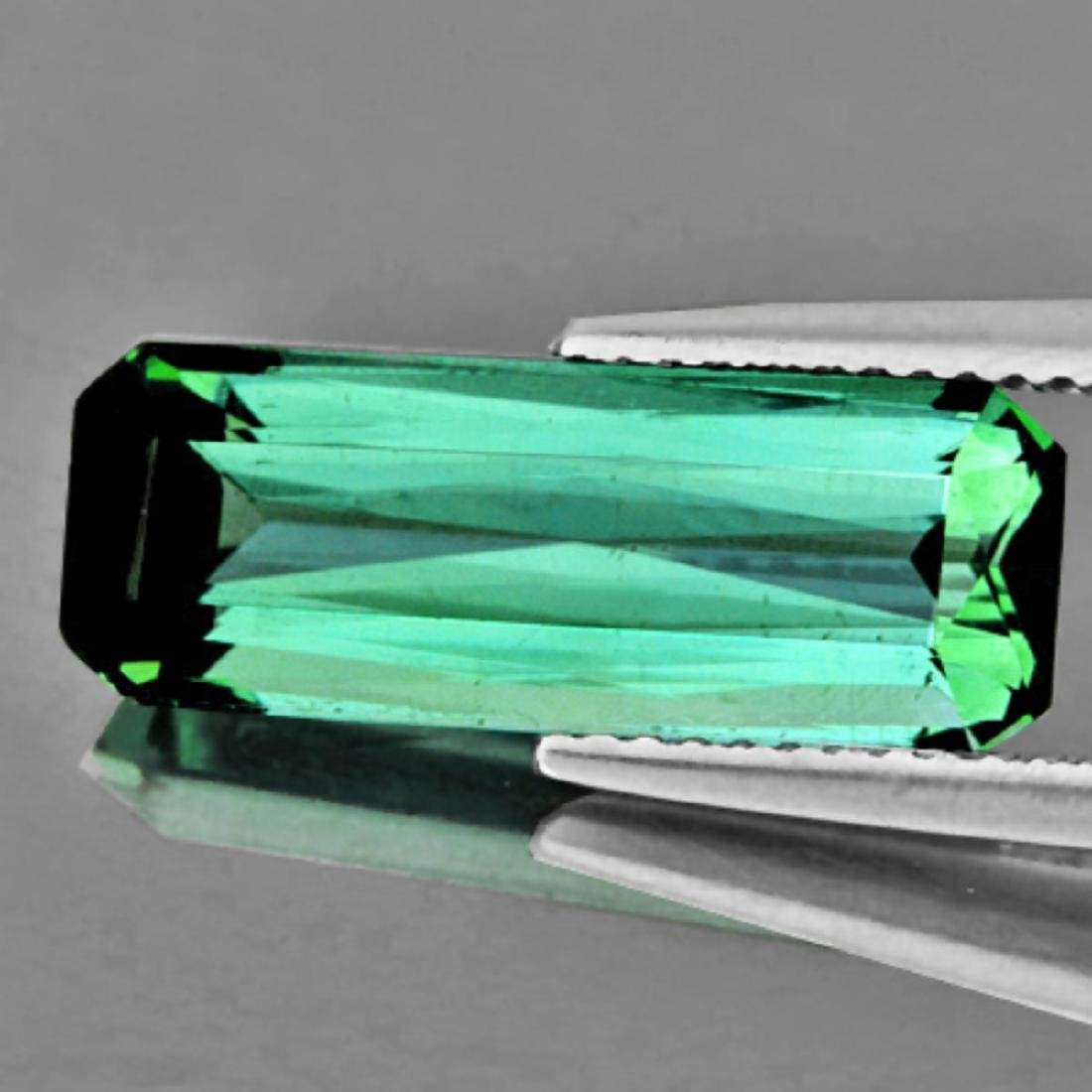 Natural Teal Green Tourmaline 4.42 Cts - VVS