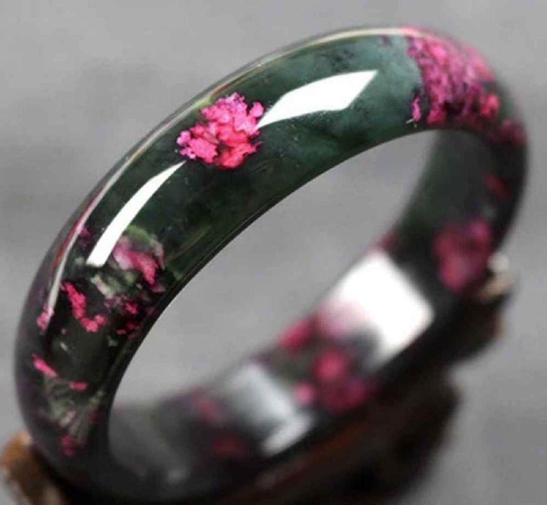 Natural Chinese Jade Floral Bracelet/Bangle