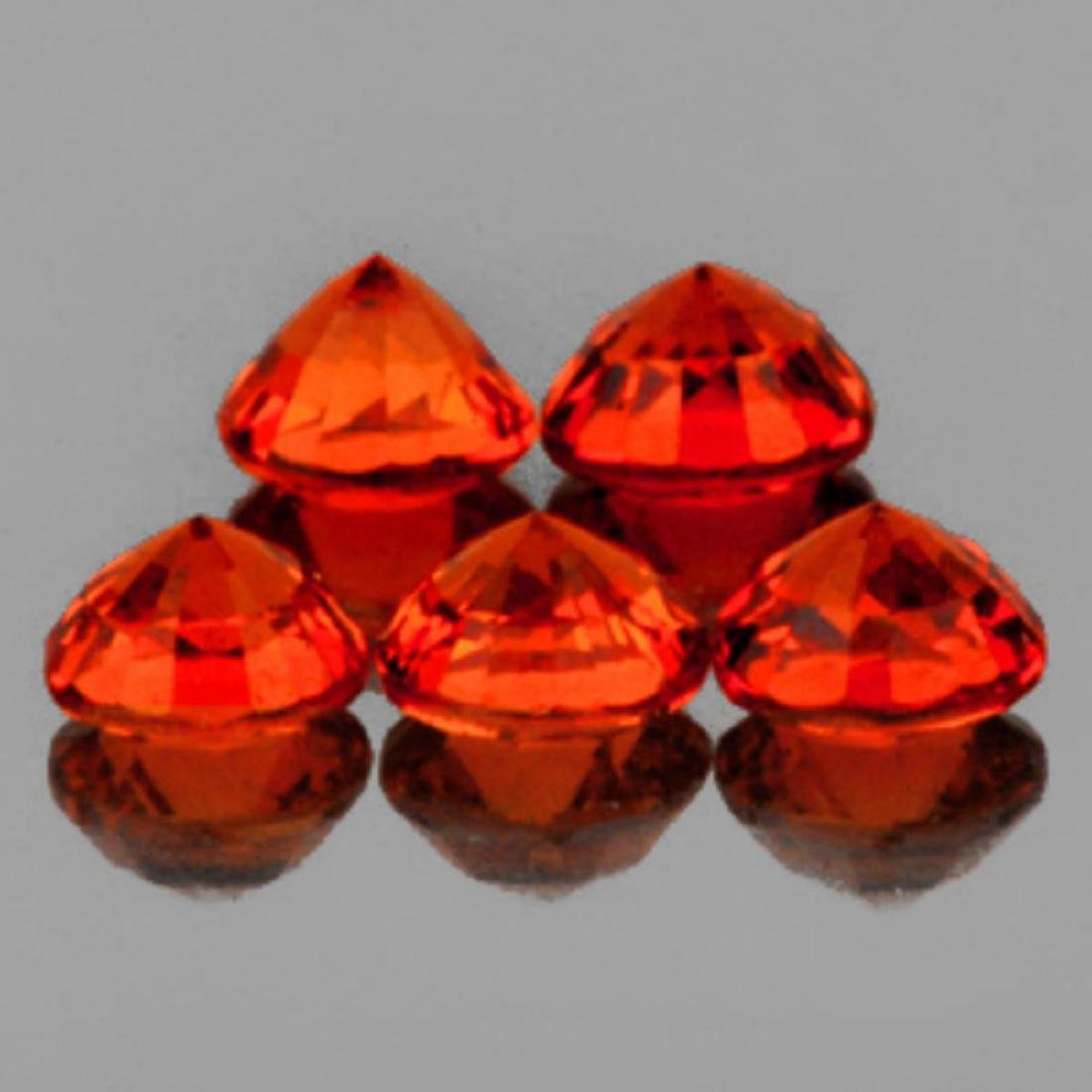 Natural AAA Orange Sapphire  3.60 MM - Flawless - 2
