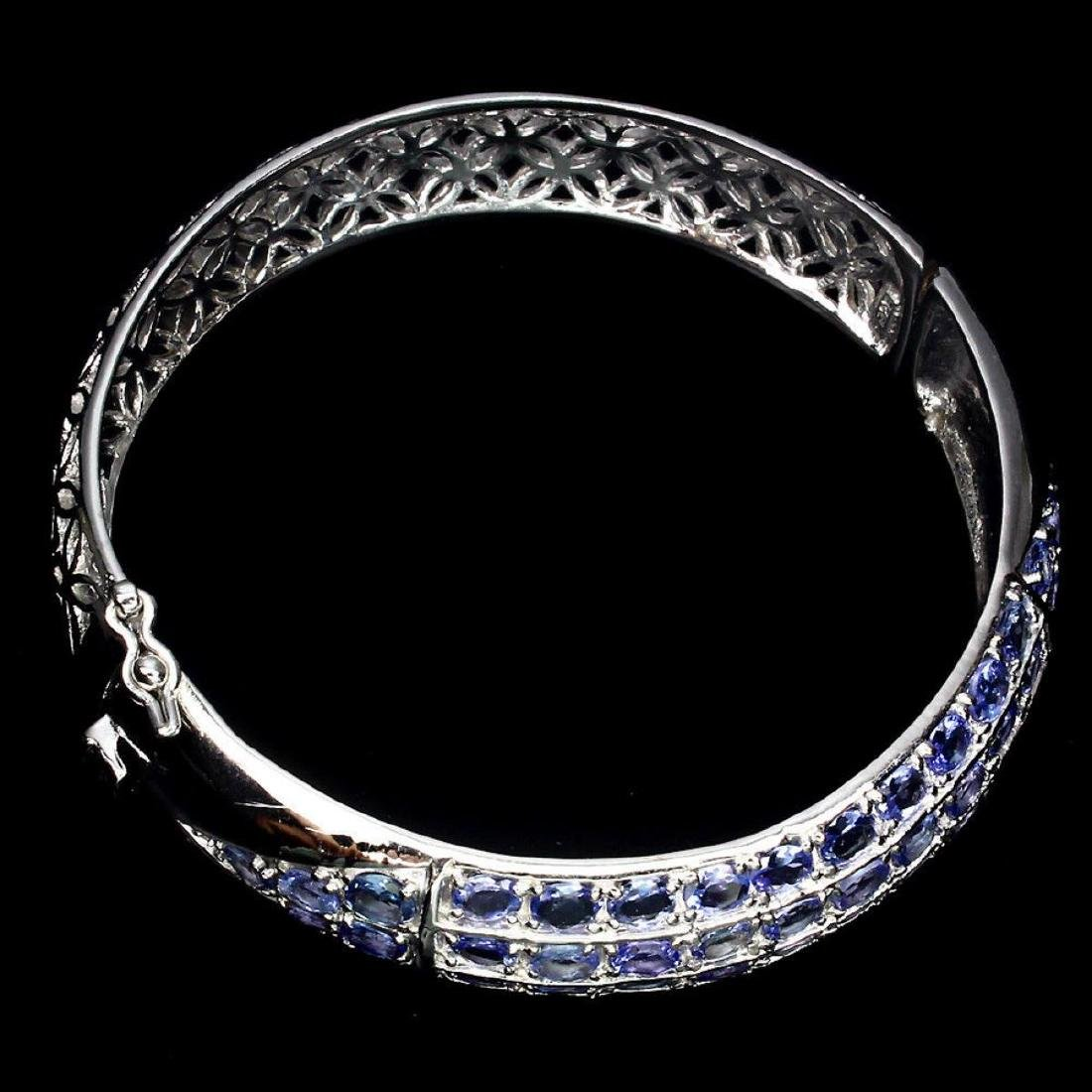 Natural Blue Violet Tanzanite 166.89 Cts Bangle - 3