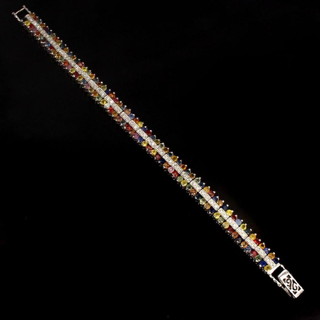 Natural Fancy Sapphire 139 Carats Bracelet - 2
