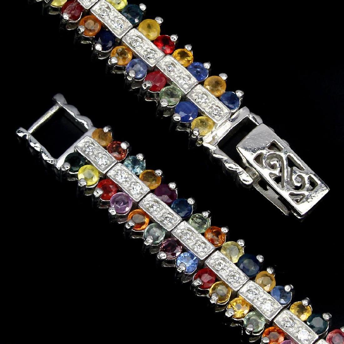 Natural Fancy Sapphire 139 Carats Bracelet - 3