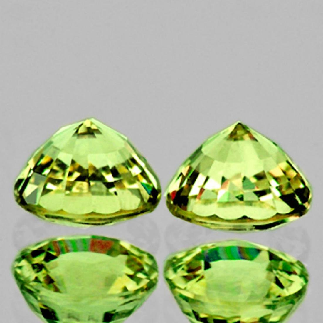 Natural Brilliant Green Sapphire Pair 5.20 MM - - 2