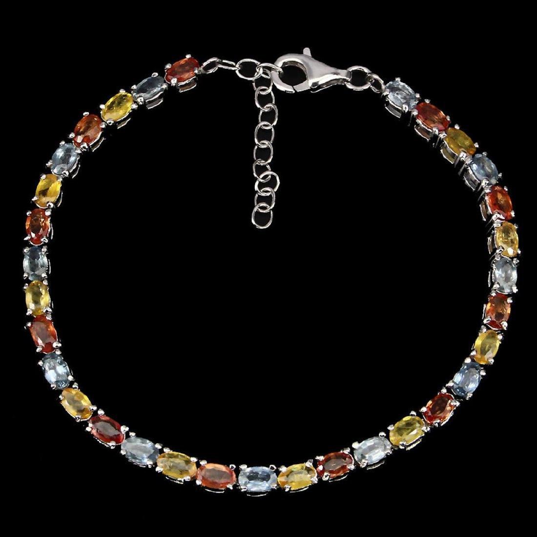 Natural Fancy Color Sapphire 57.20 Carats Bracelet - 2