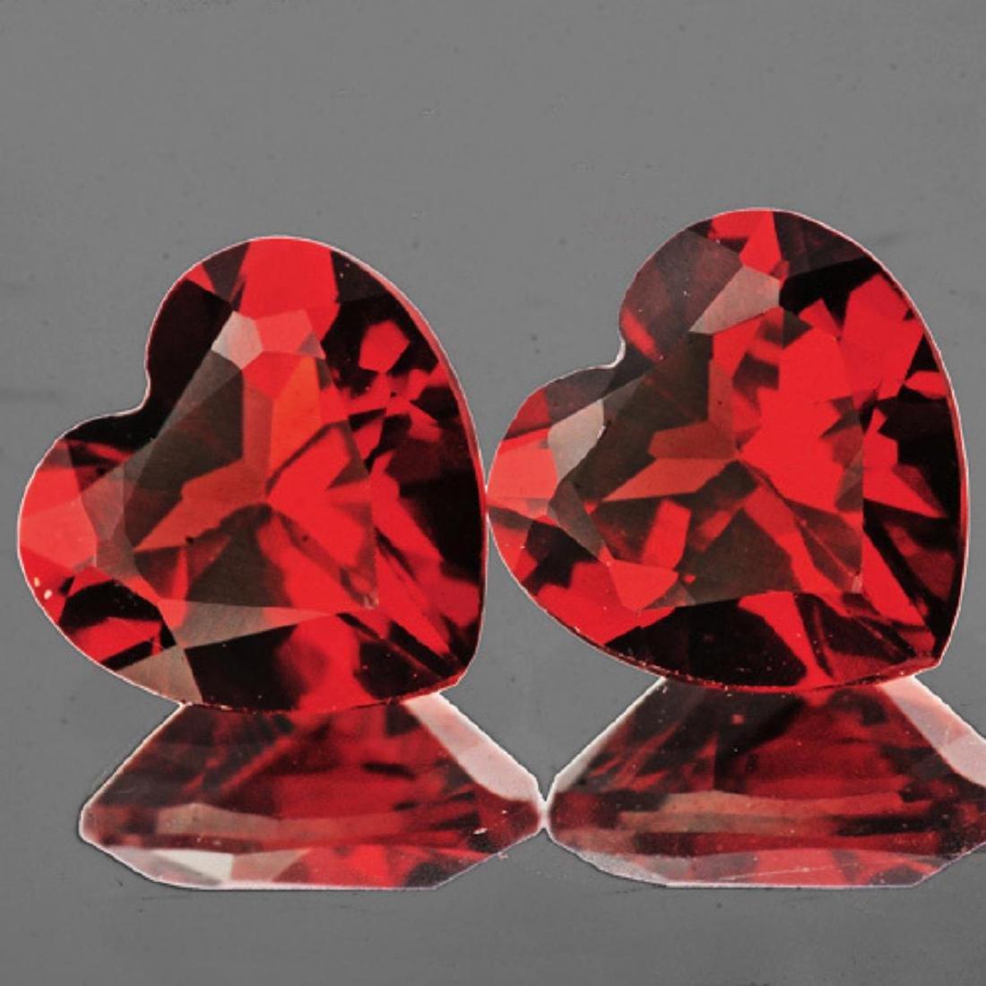 Natural Mozambique Garnet Heart Pair 8.00 MM - VVS