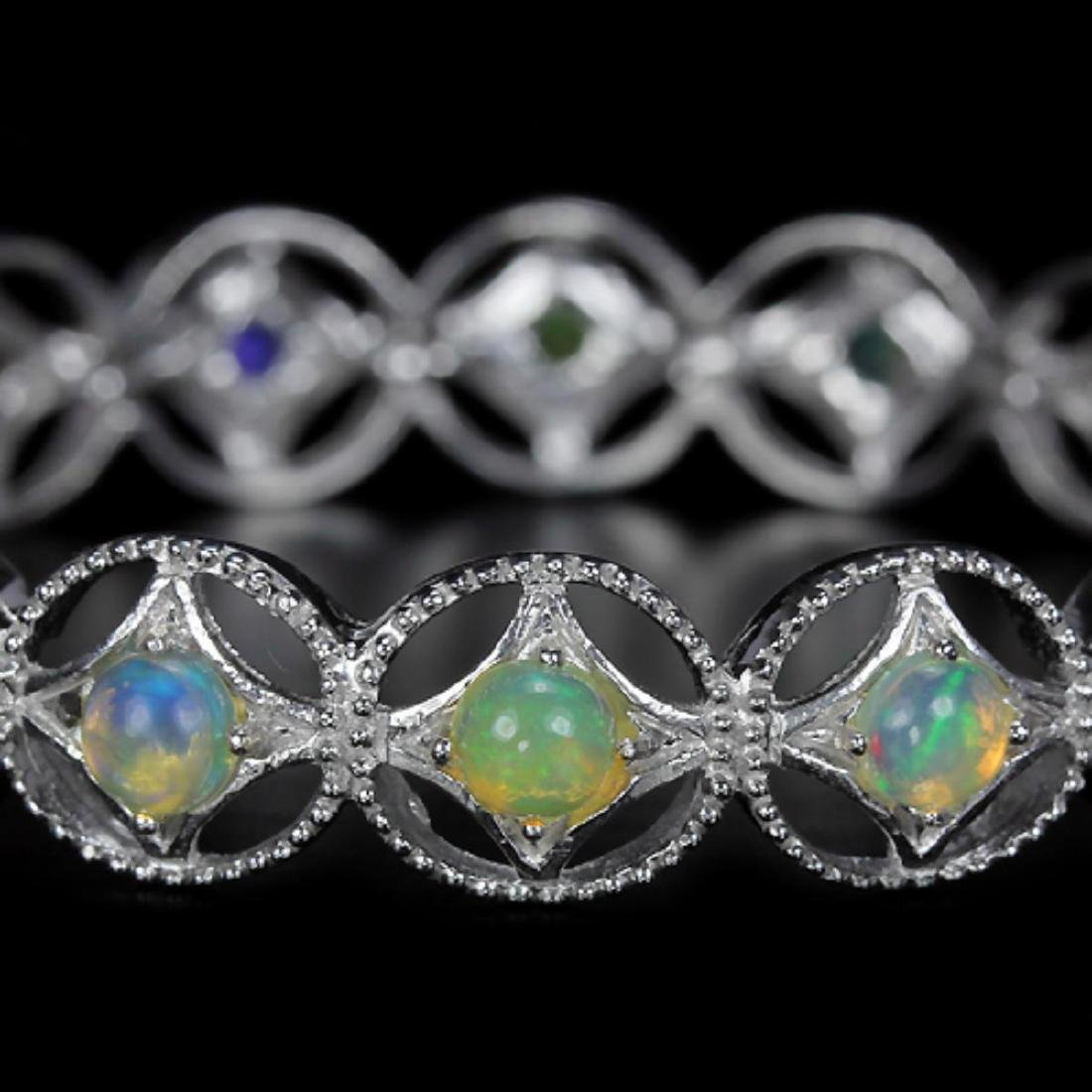 Stunning Natural Multi Color Opal Bracelet - 2