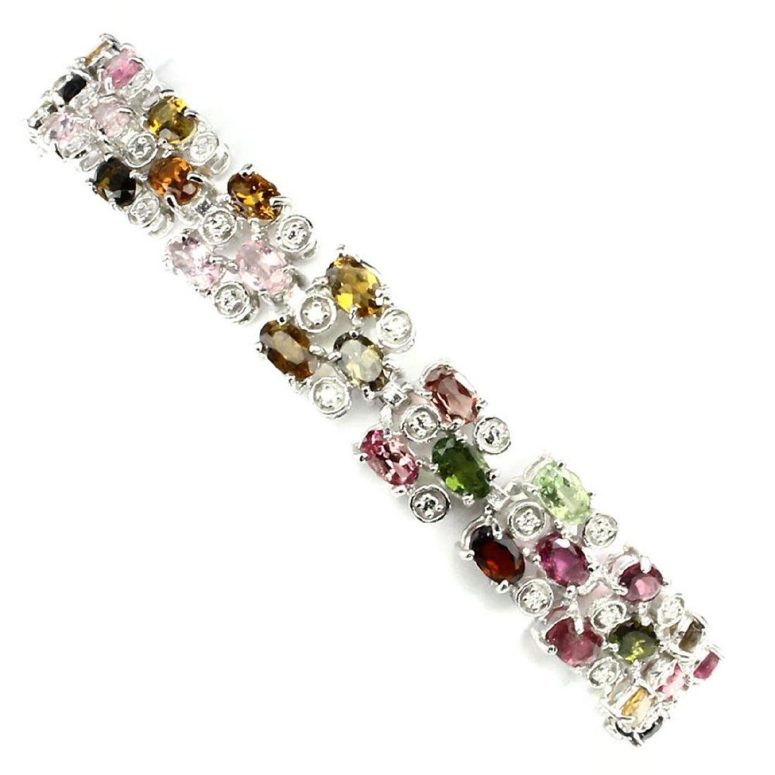 Natural Fancy Tourmaline 76 Ct Bracelet