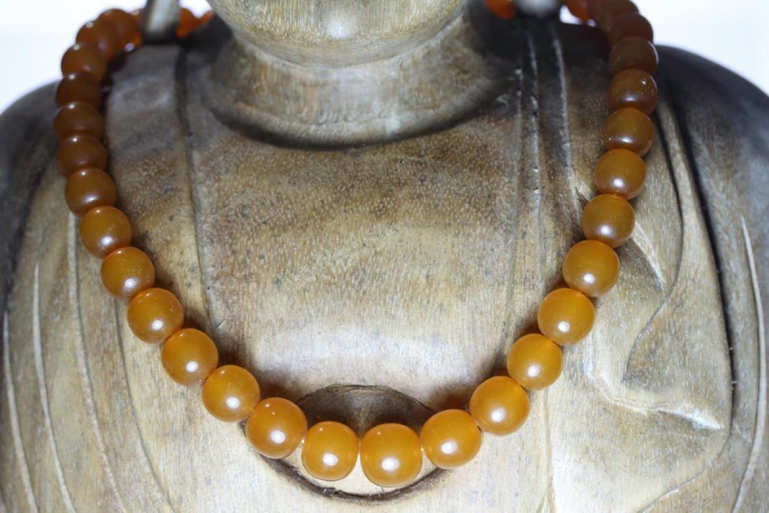 Vintage Natural Amber 39 Grams Necklace - 2