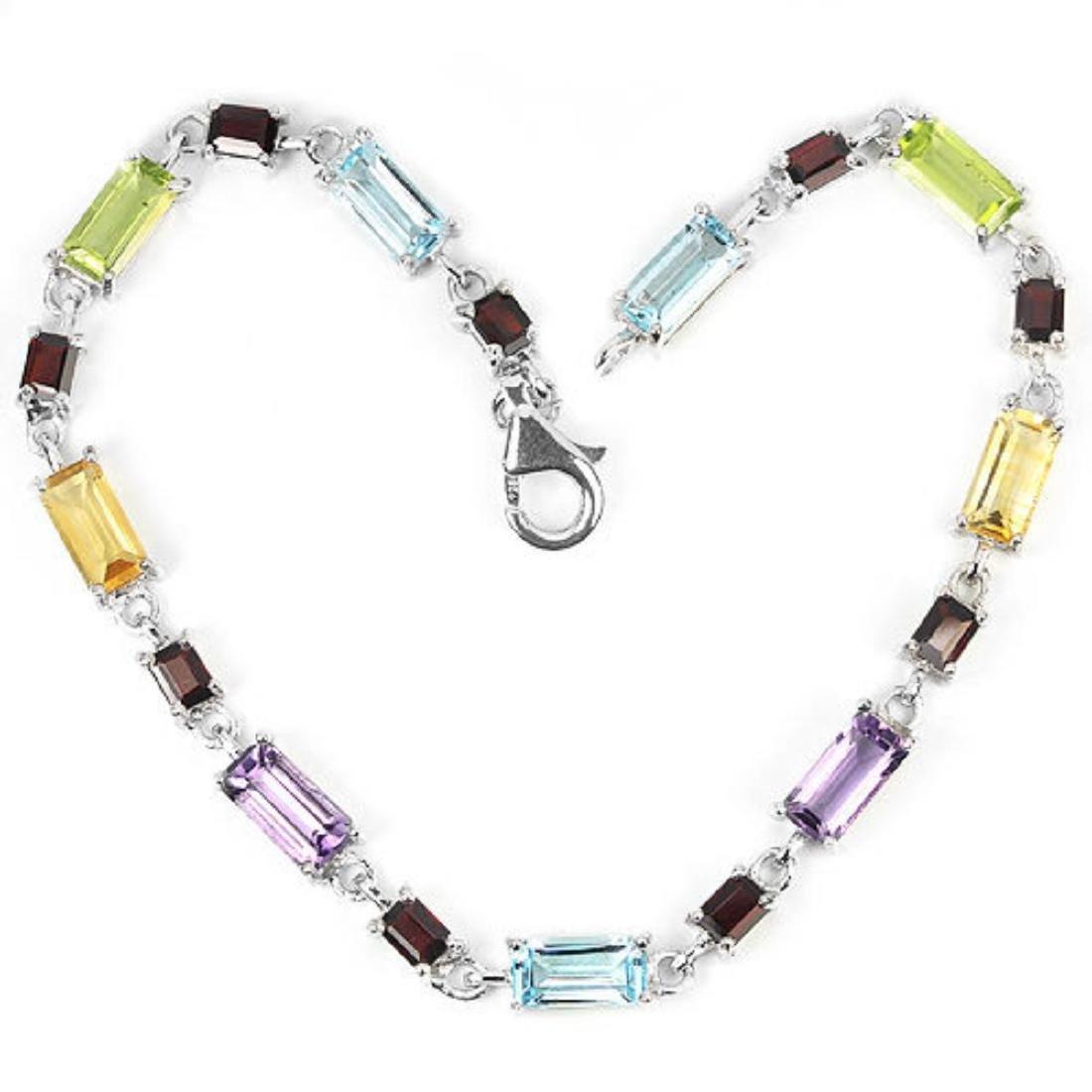 Natural Multi Gemstone 39 Carats Bracelet