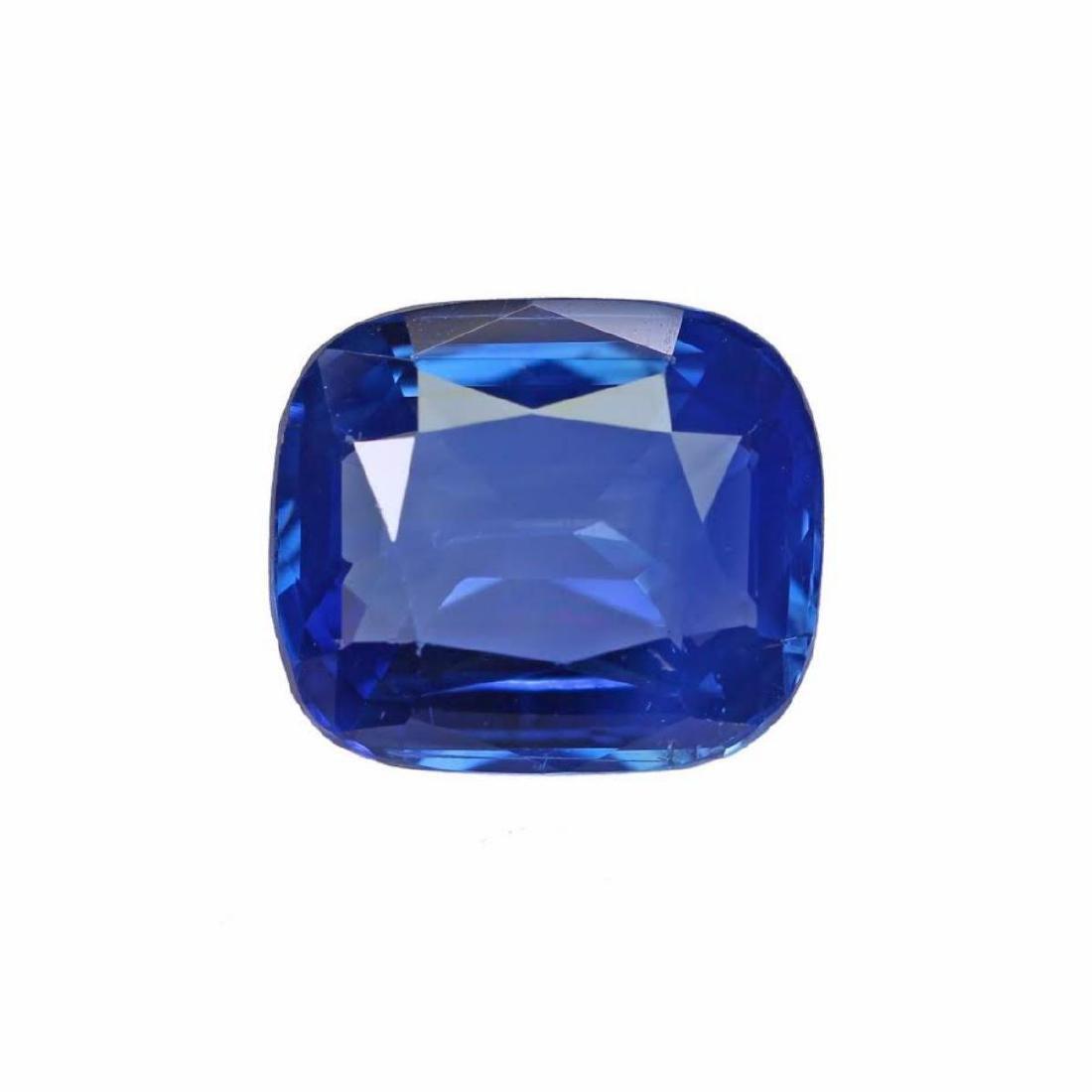Natural Kashmir Sapphire Ring - Gubelin