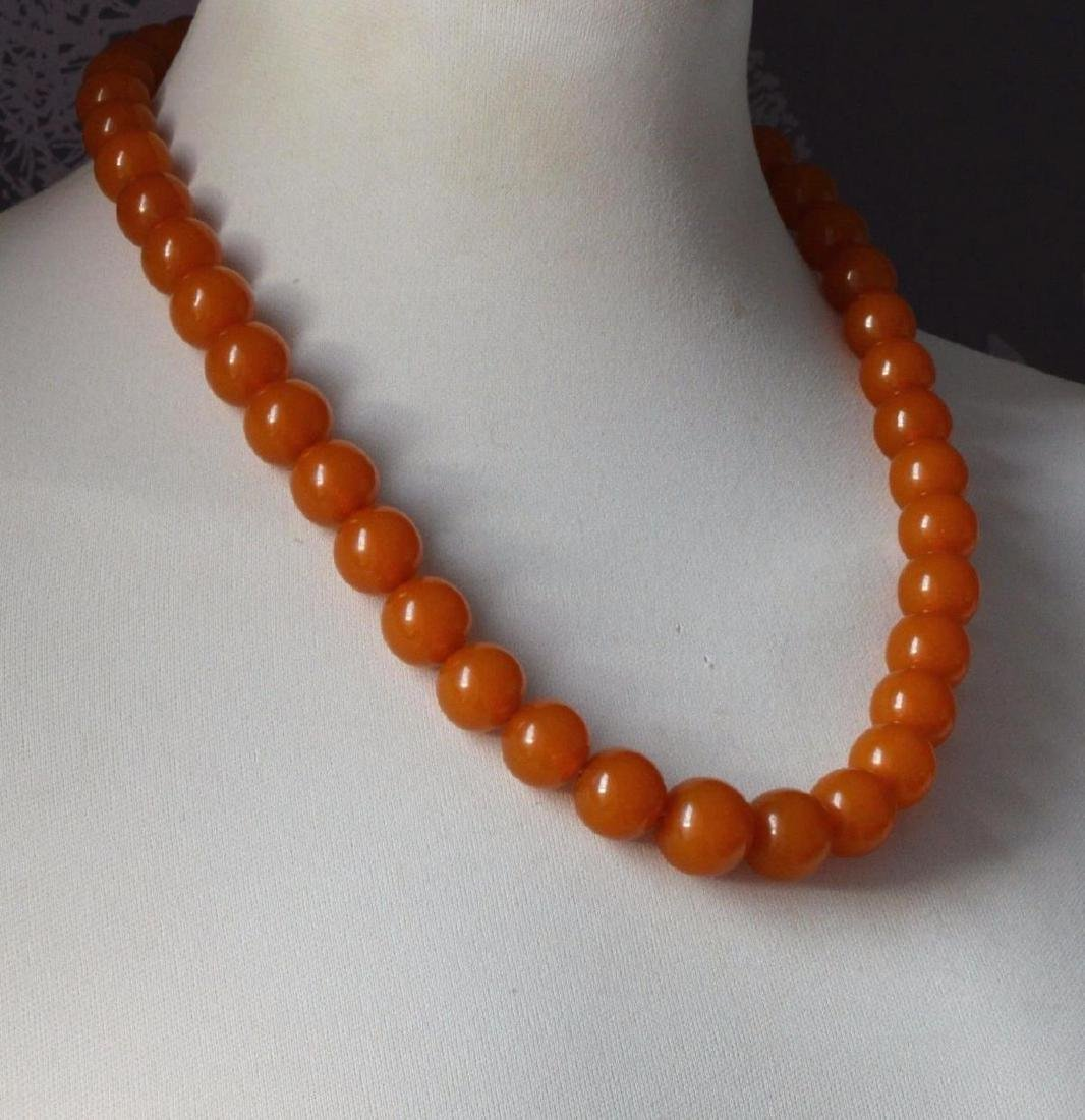 Antique Natural Amber Necklace - 4