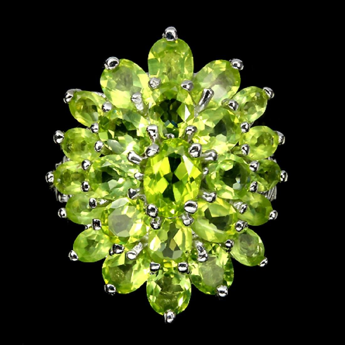 Natural Peridot Ring