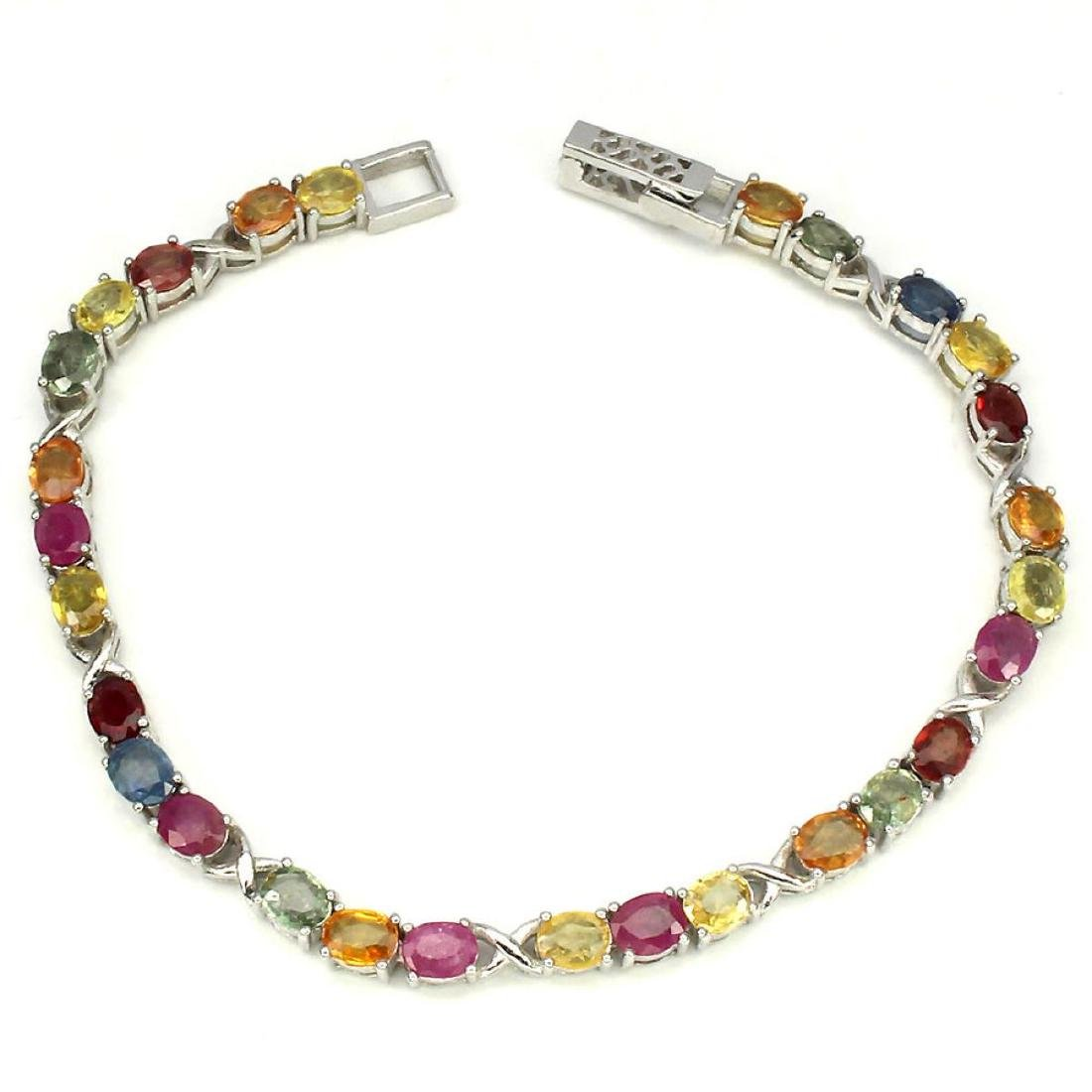 Natural Fancy Sapphire & Ruby Bracelet - 3