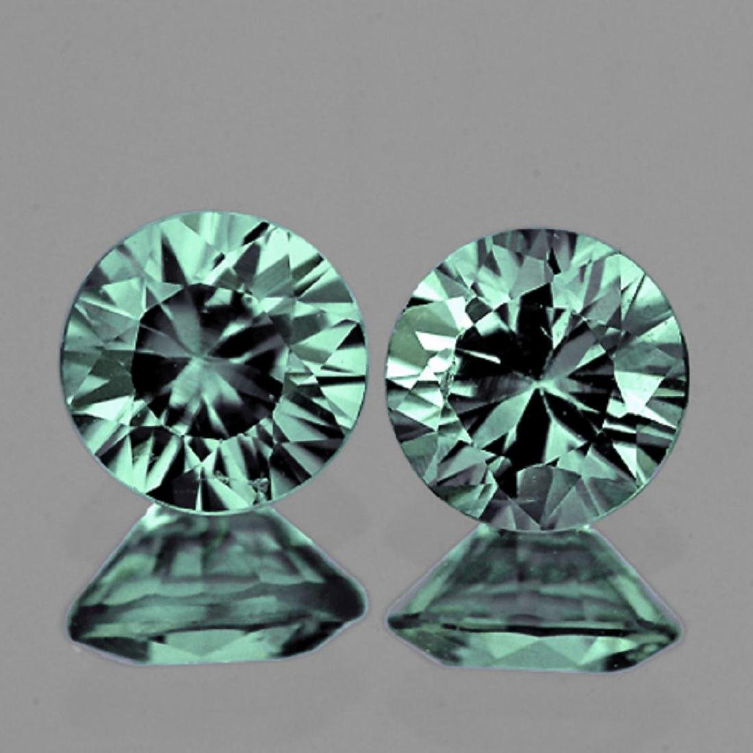 Natural Bluish Green Sapphire Pair (Flawless-VVS1)
