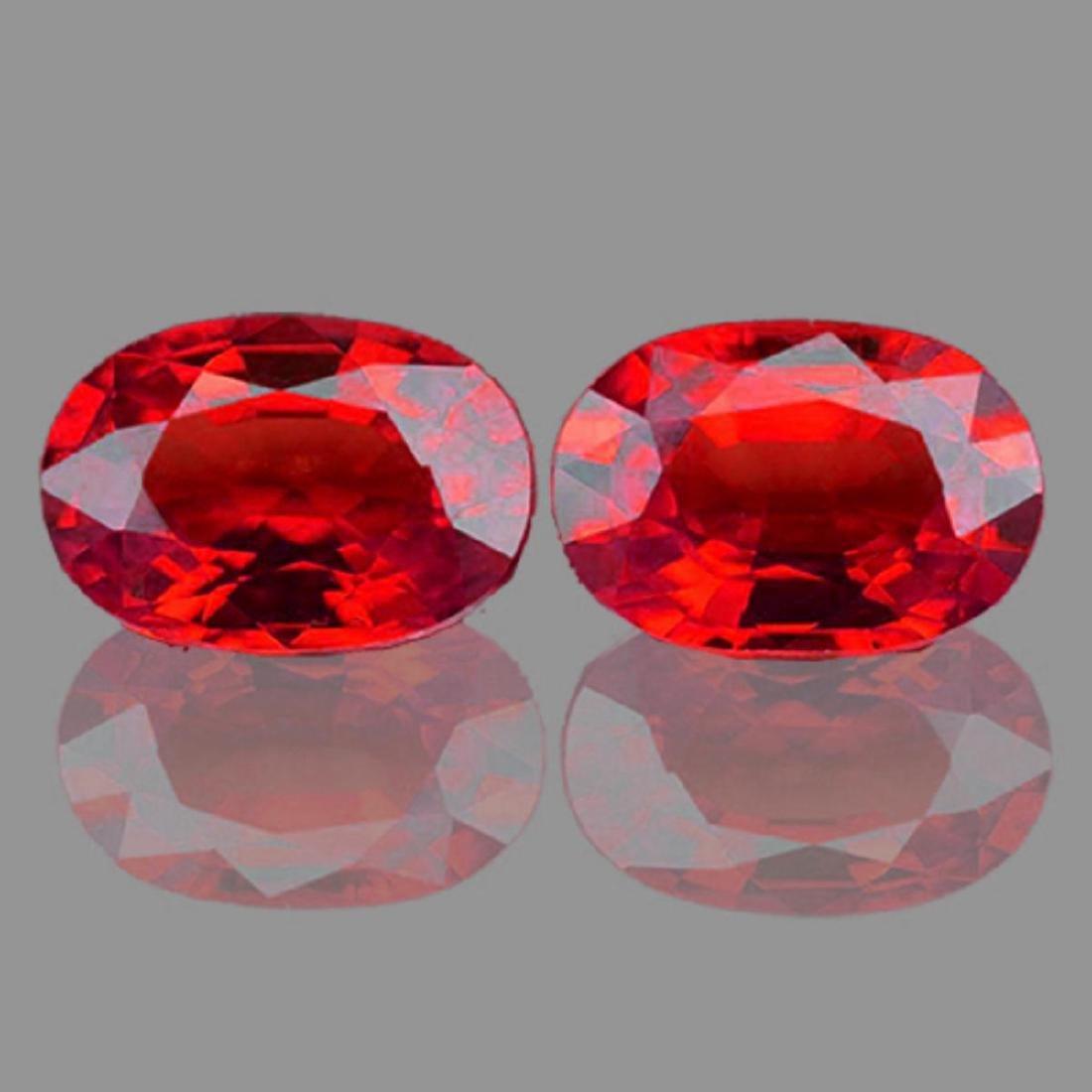 Natural Vivid  Red Burma Ruby Pair - VVS