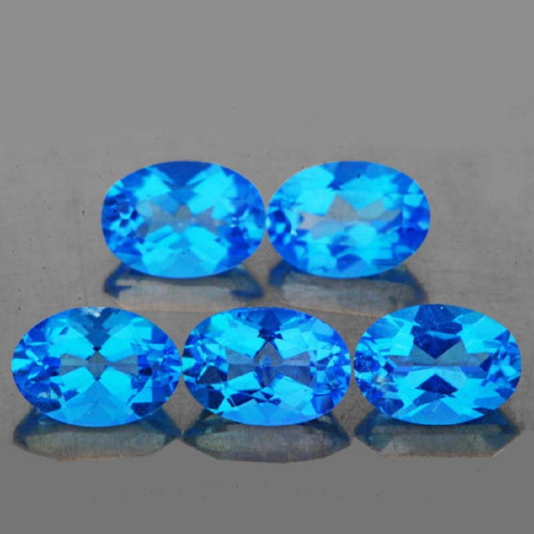 Natural Swiss Blue Topaz 4.53 Cts (Flawless-VVS1)