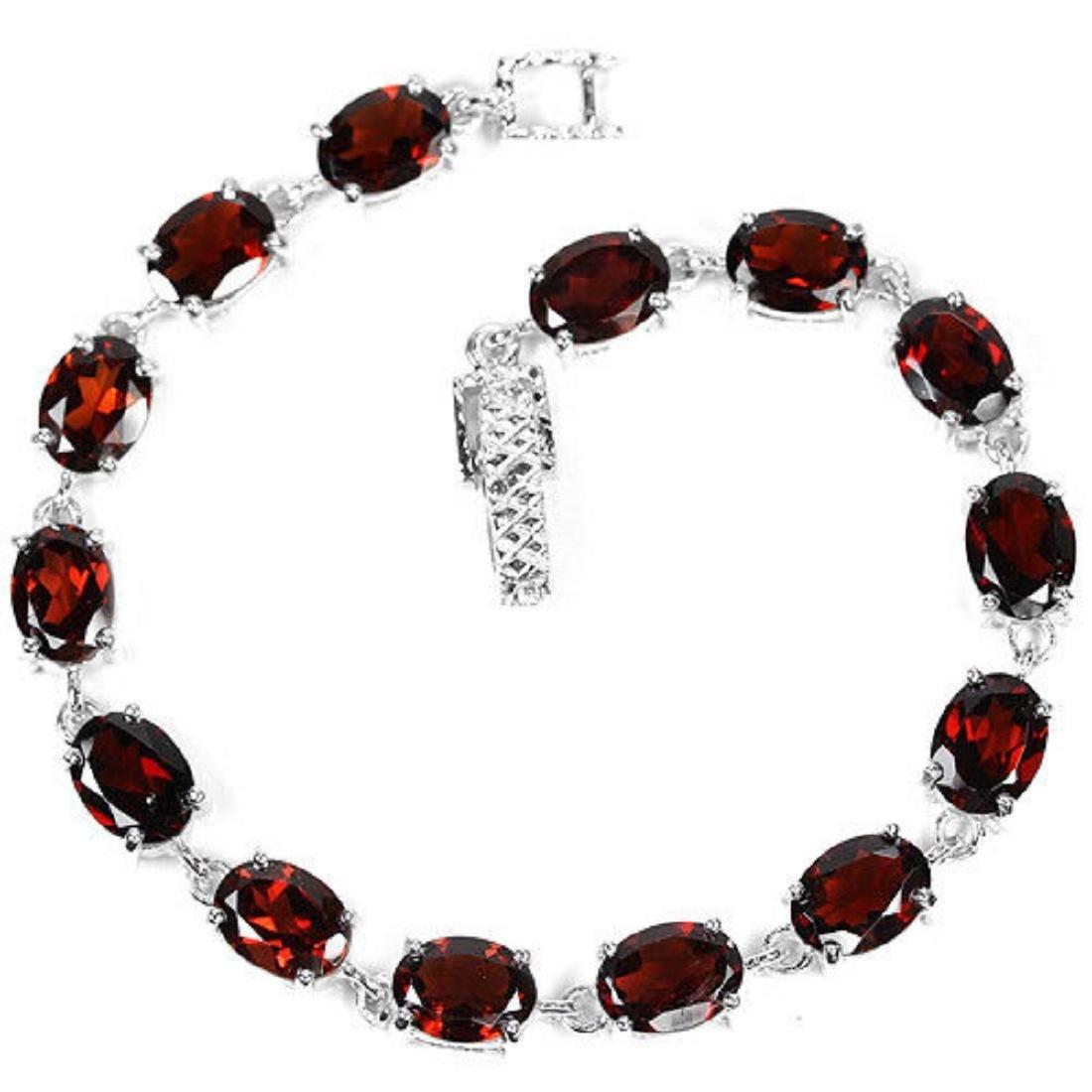 NATURAL AAA DRAK ORANGE RED GARNET Bracelet