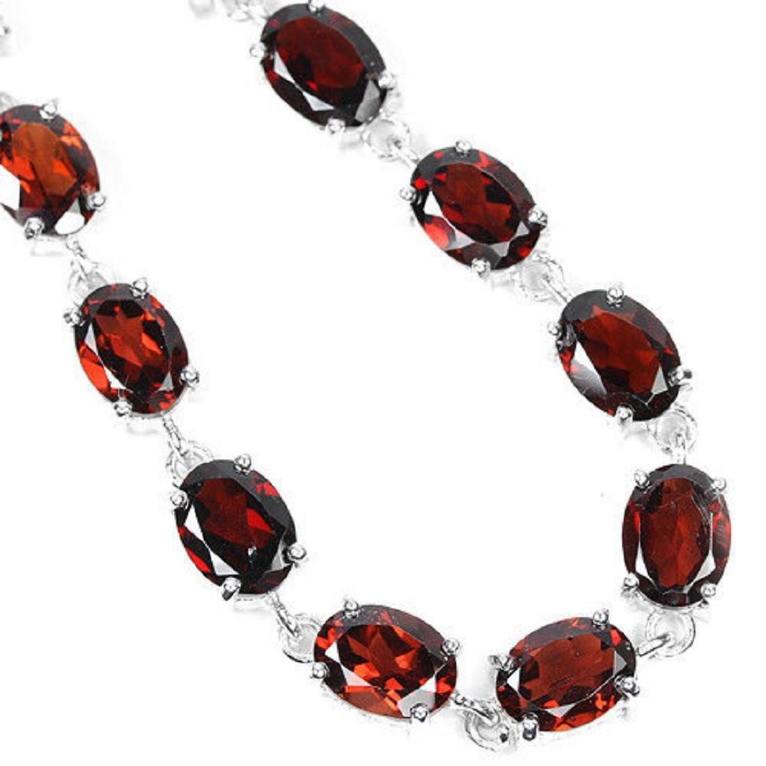 NATURAL AAA DRAK ORANGE RED GARNET Bracelet - 2