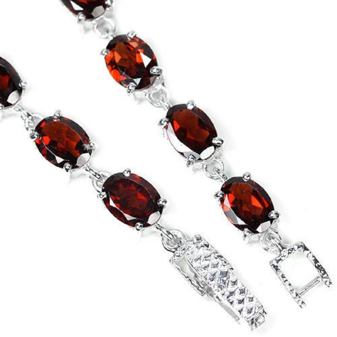 NATURAL AAA DRAK ORANGE RED GARNET Bracelet - 3