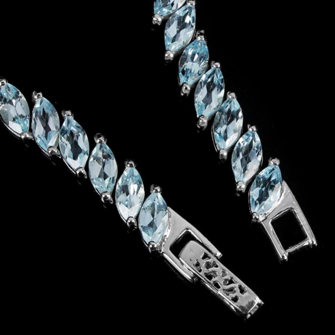 Natural SKY BLUE TOPAZ 85 Crats MARQUISE Bracelet - 2