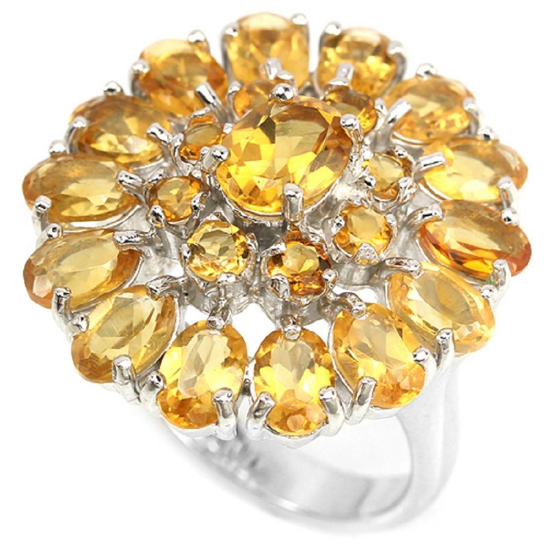 Natural Orange/Yellow Citrine Ring