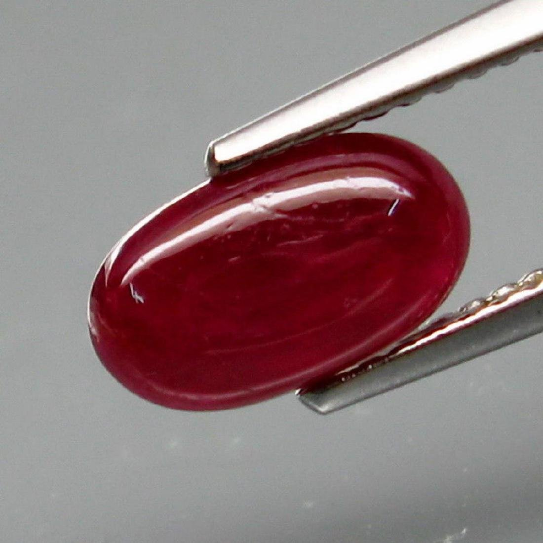 Natural Cabochan Unheated Red Ruby 1.75 Ct