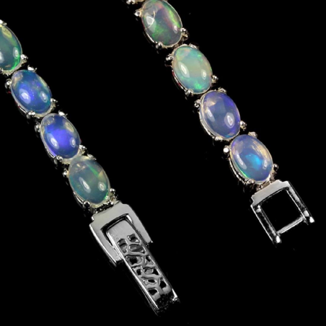 NATURAL AAA MULTI COLOR WHITE OPAL OVAL Bracelet - 2