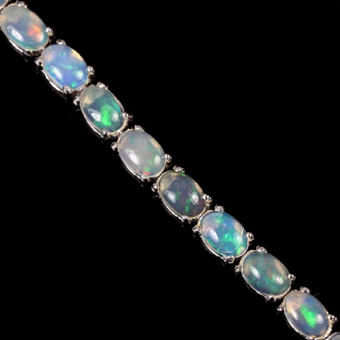 NATURAL AAA MULTI COLOR WHITE OPAL OVAL Bracelet - 3