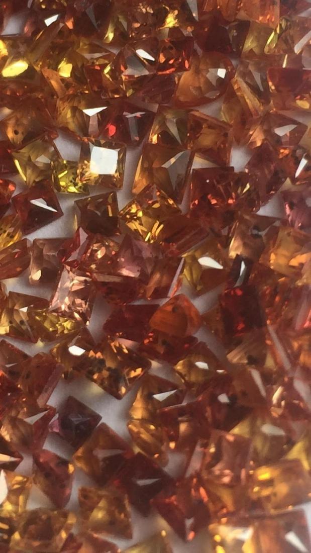 Natural Intense Orange/Red Sapphire 15 Cts -VVS