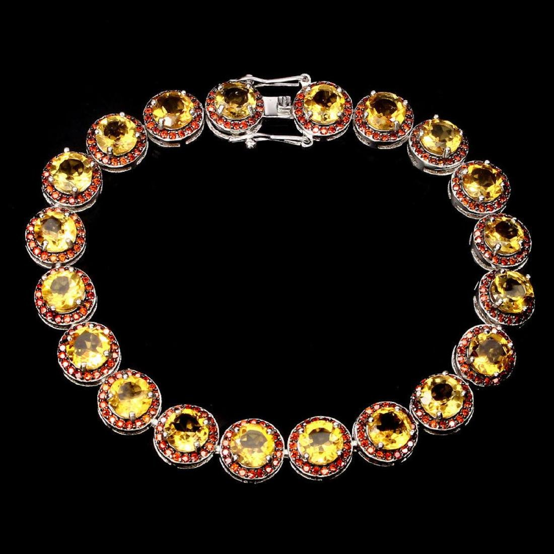 Natural Top Rich Yellow Citrine Bracelet - 2