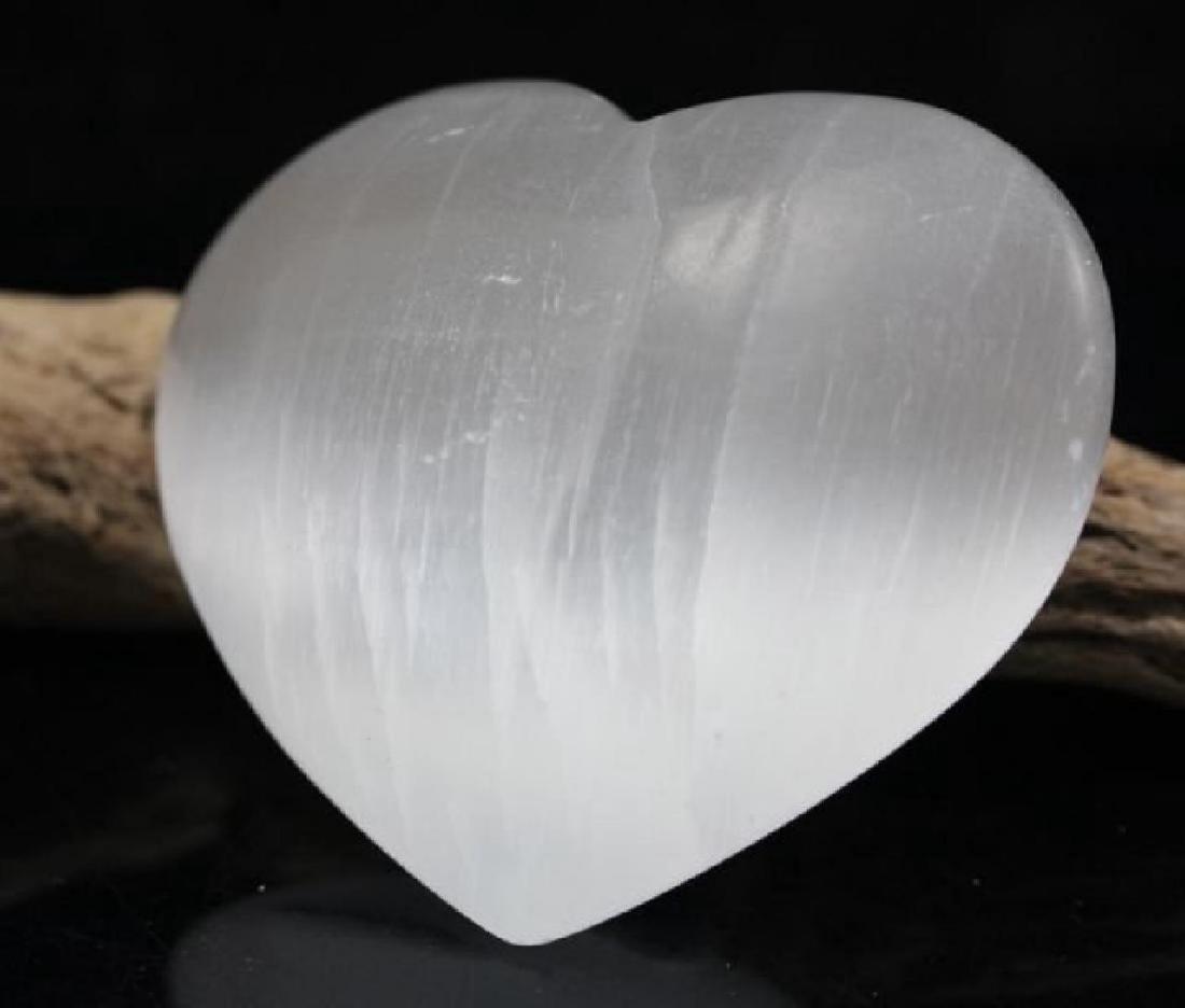 Natural Healing Selenite Heart 575  Carats
