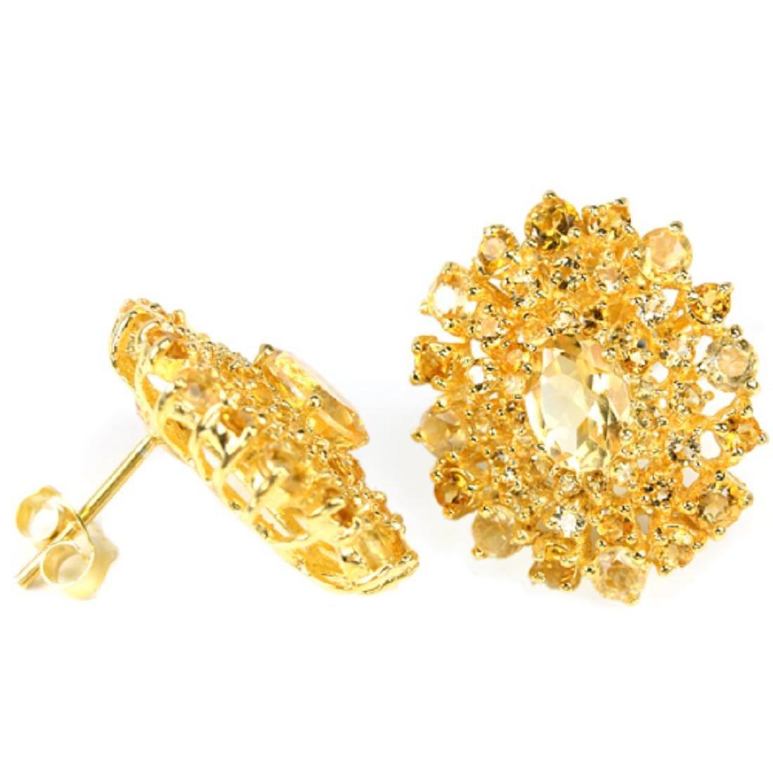 NATURAL AAA ORANGISH YELLOW CITRINE Earrings - 2