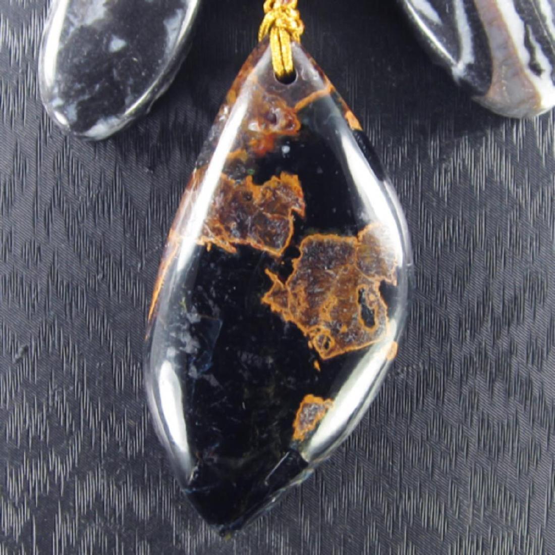 Natural MultiColor Pietersite Diamond Polished Necklace - 2