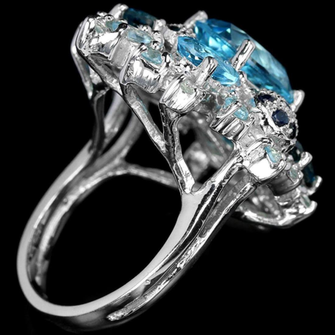 Natural SKY, SWISS & LONDON TOPAZ & BLUE SAPPHIRE Ring - 2