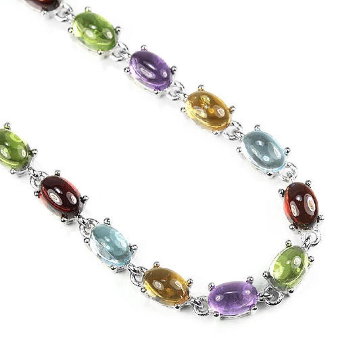 Natural Multi Gemstone 40 Carats Bracelet - 2