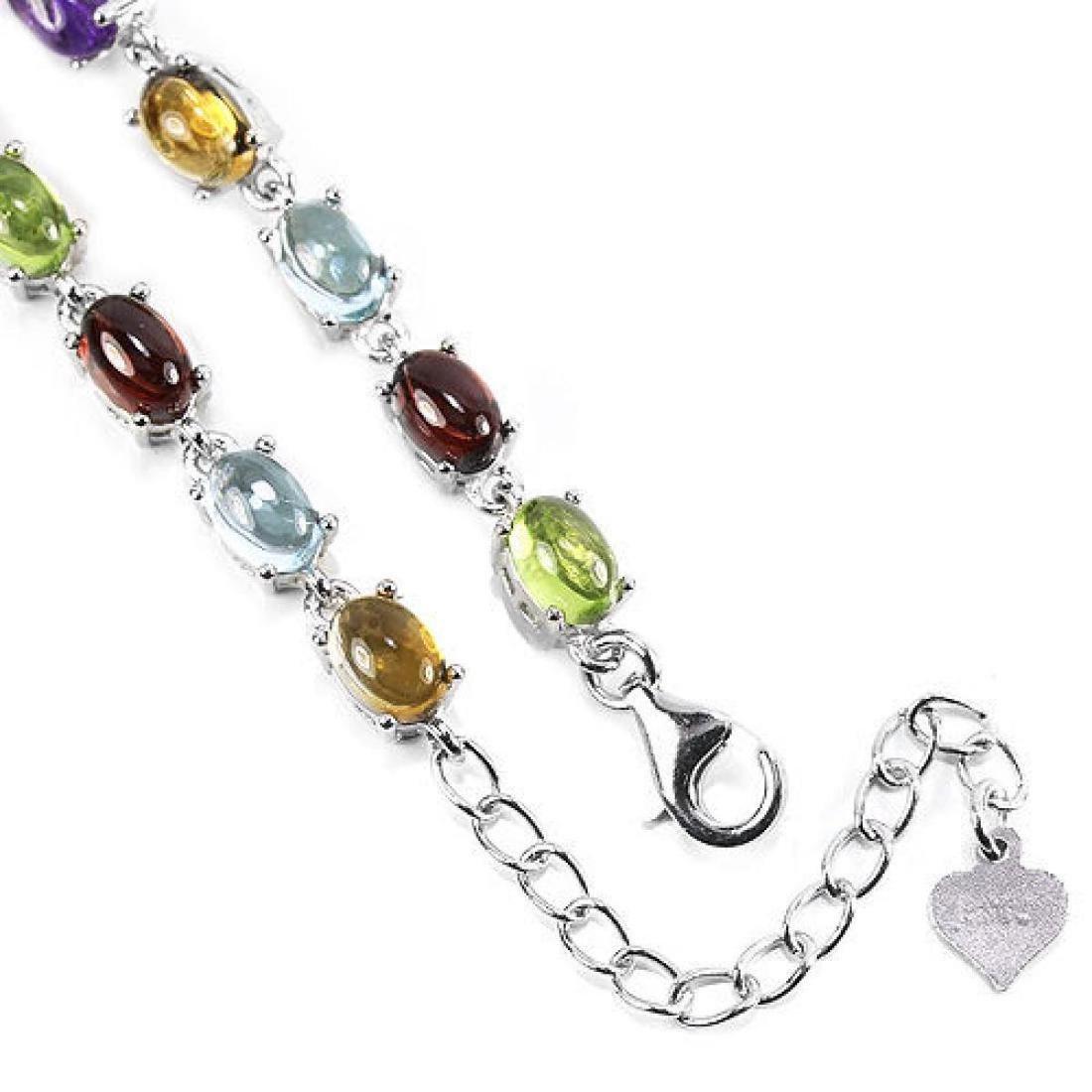 Natural Multi Gemstone 40 Carats Bracelet - 3