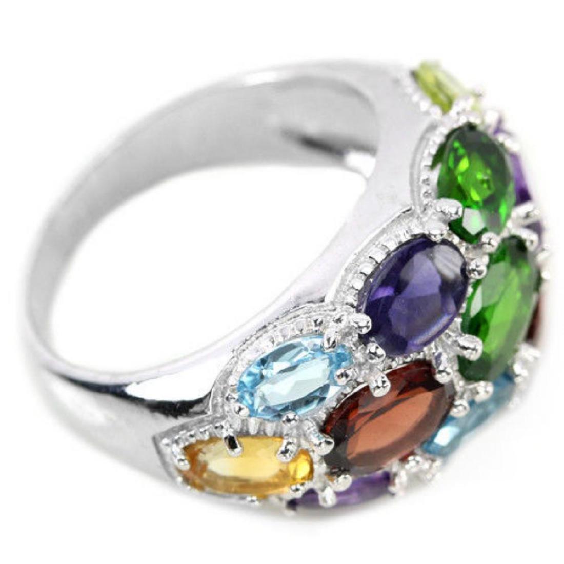 Natural Multi Gemstone Ring - 3