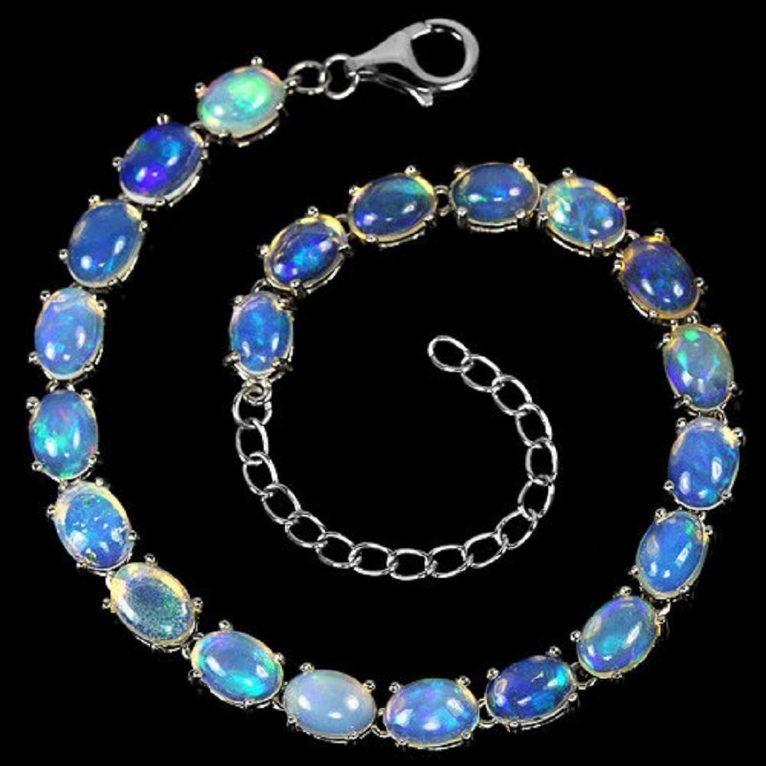 NATURAL  WHITE OPAL  Bracelet