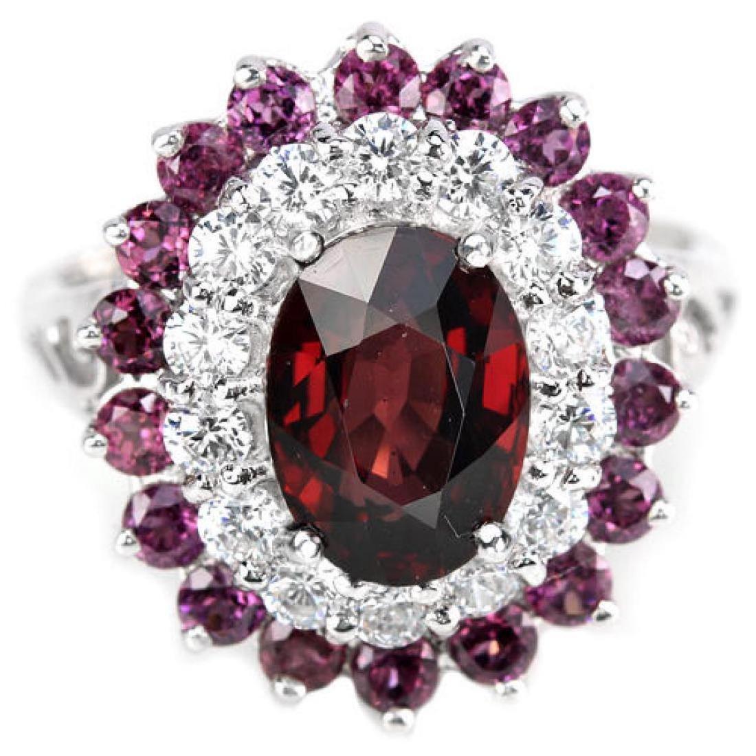 NATURAL PURPLISH PINK RHODOLITE GARNET Ring