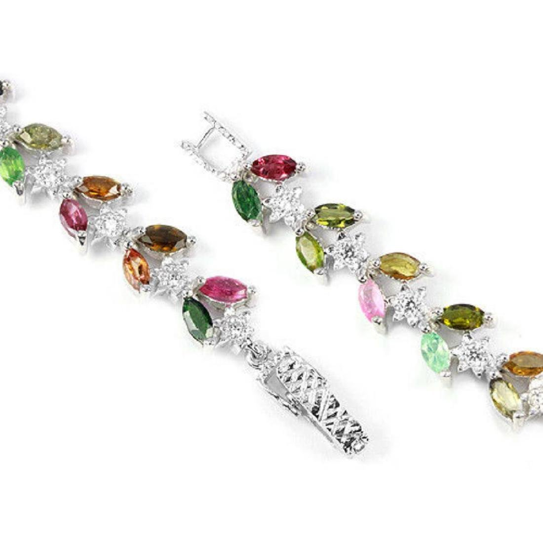 NATURAL MULTI COLOR TOURMALINE Bracelet - 3