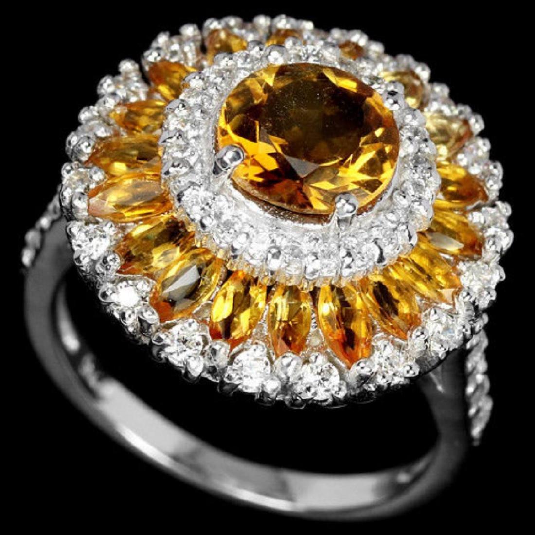 NATURAL ORANGISH YELLOW CITRINE Ring - 3