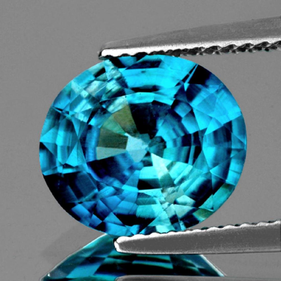 Natural Top Electric  Blue Zircon 2.91 Cts - FL