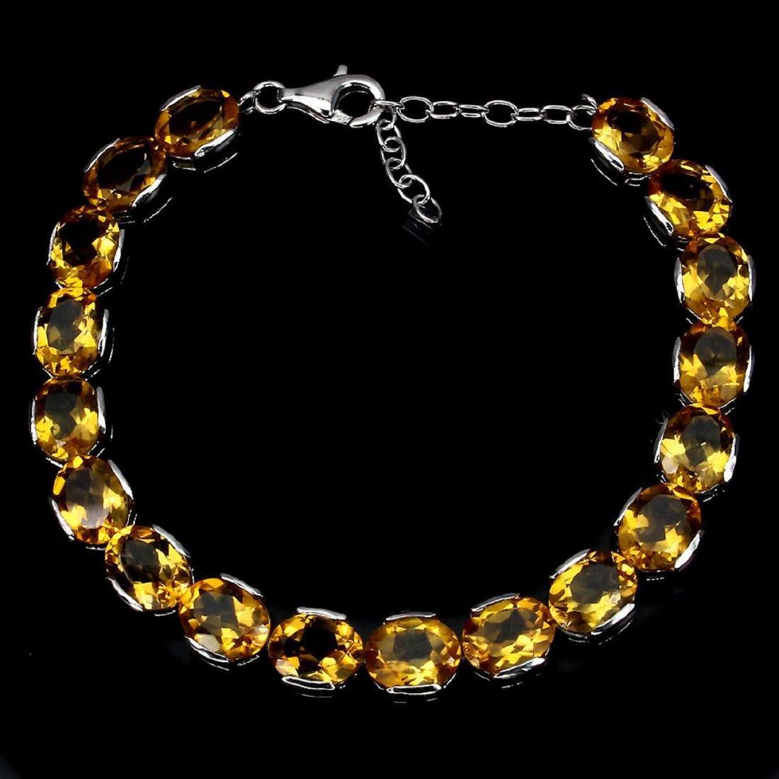 Natural Top Rich Yellow Citrine 95.33 Bracelet - 2