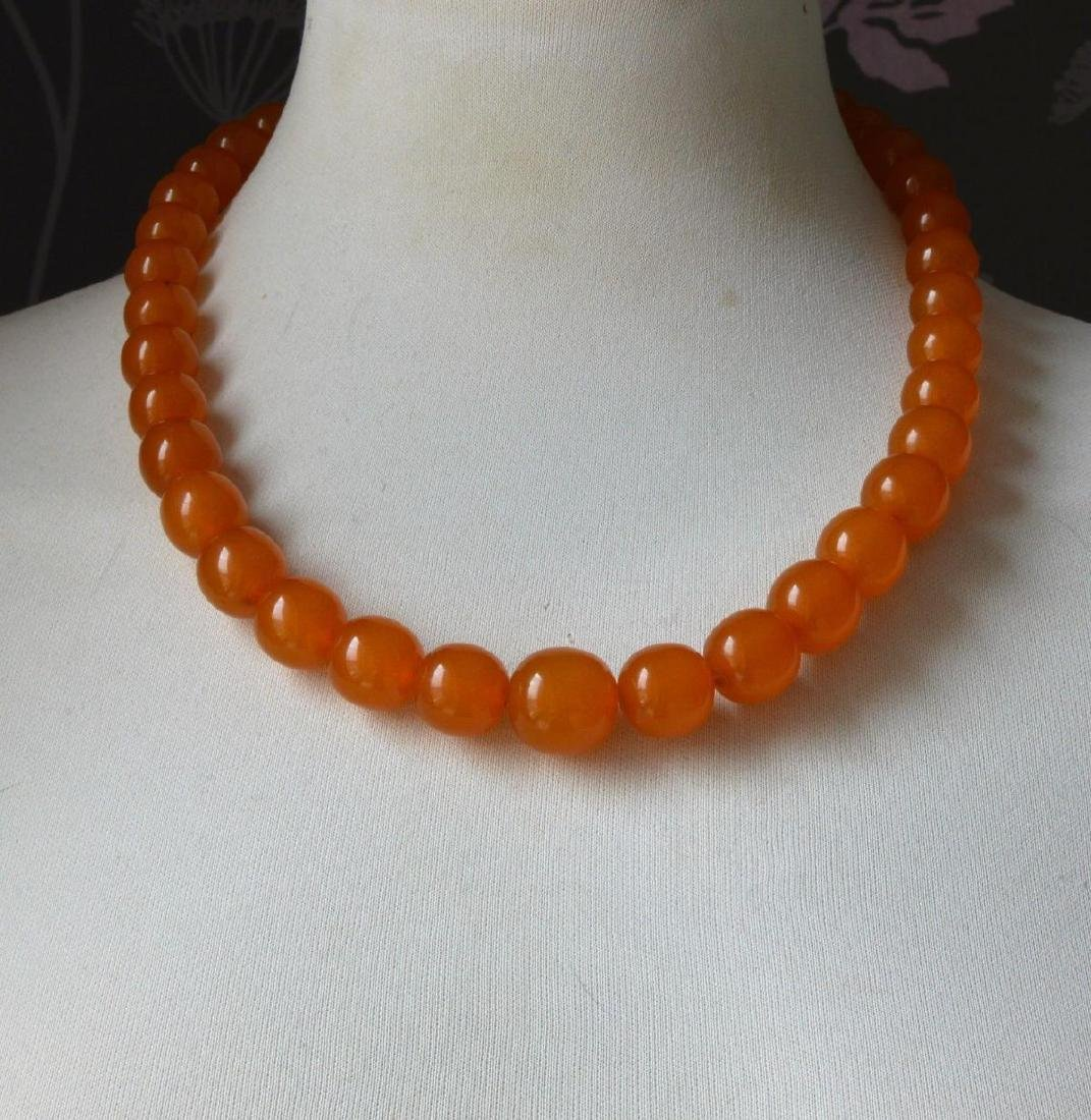 Vintage Natural Amber Necklace - 3