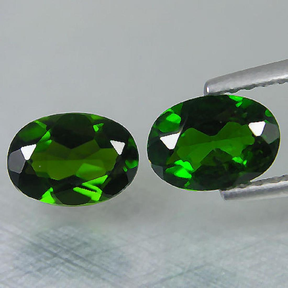 Natural Green Chrome Diopside Pair 2.95 Carats
