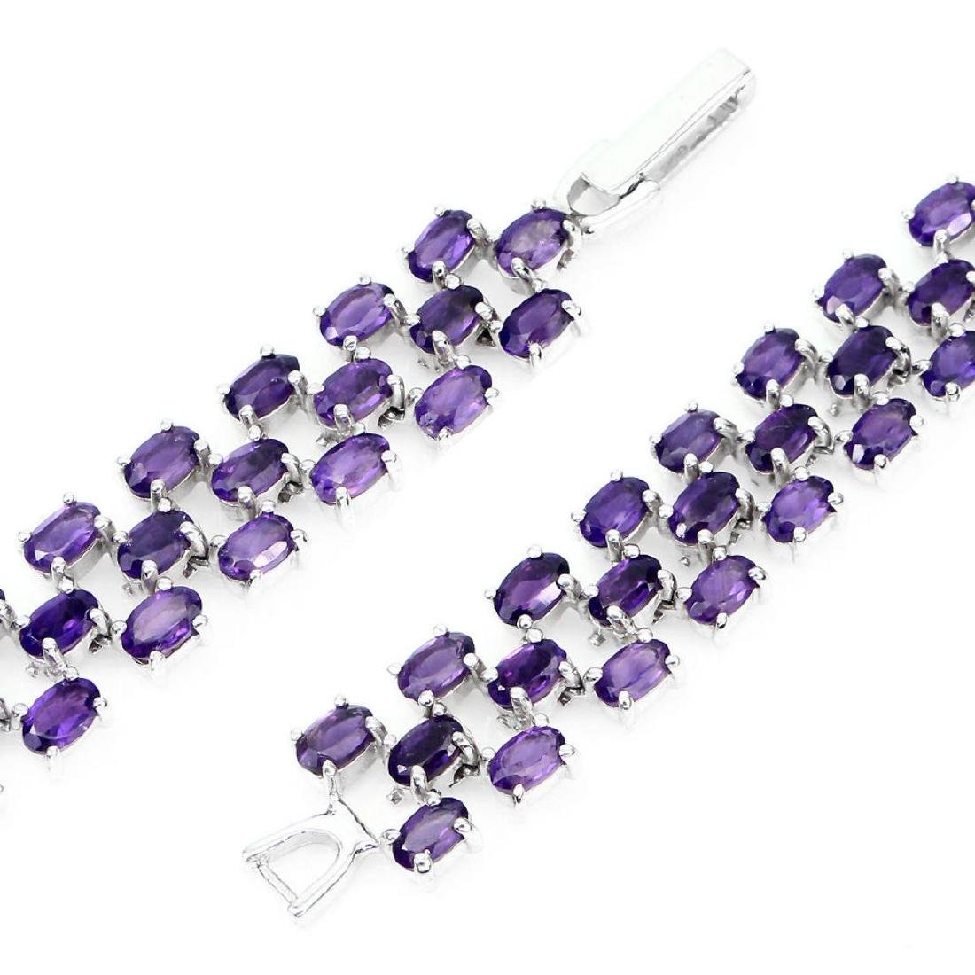 Natural  AAA Intense Purple Amethyst 103 Cts Bracelet - 2